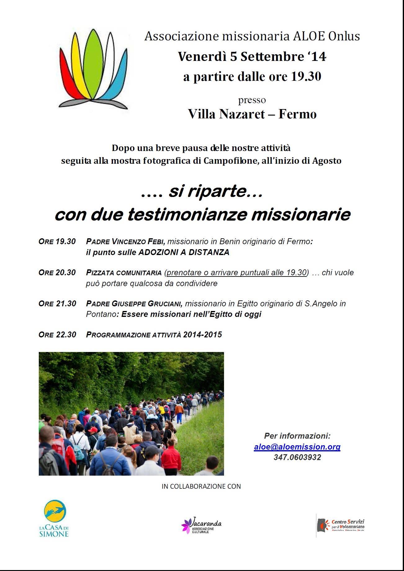 Testimonianze missionarie dall'Egitto e dal Benin